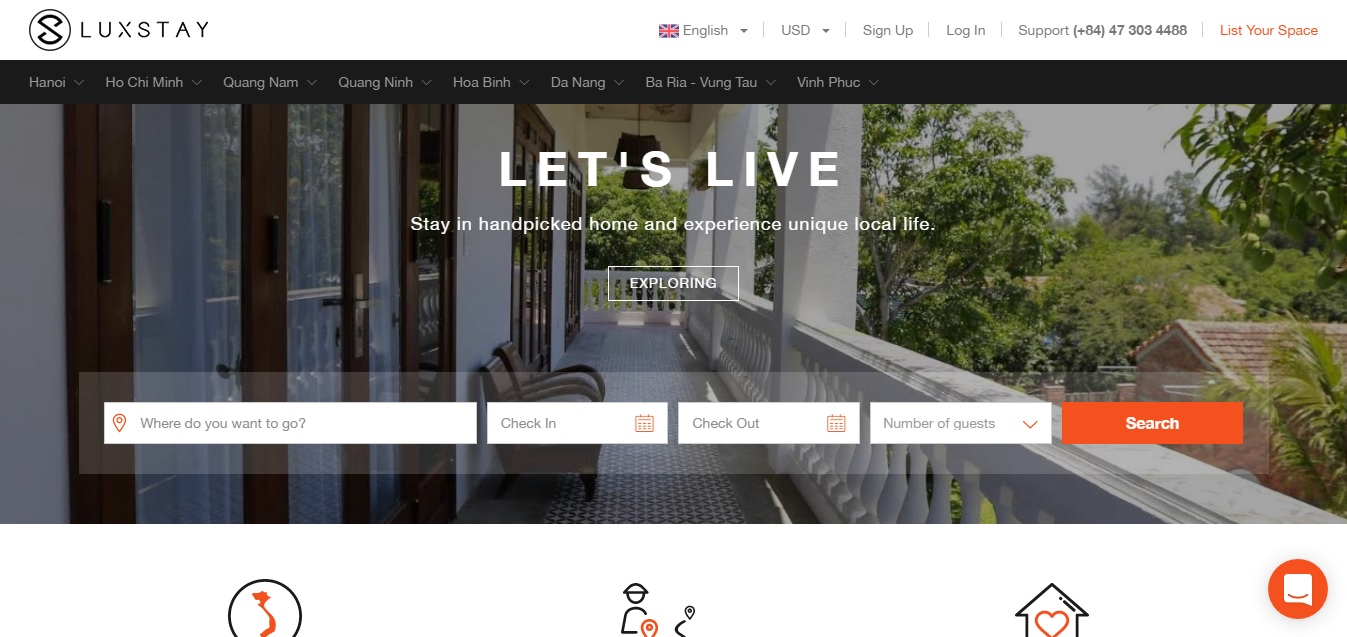luxstay website booking, luxstay hotel booking system, luxstay son tung, luxstay booking