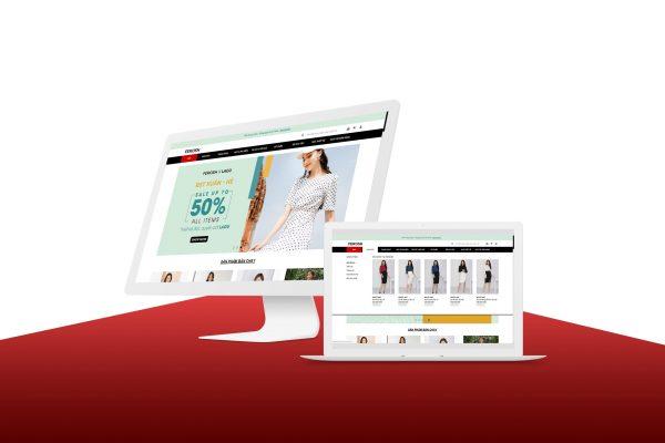 ferosh high end fashion website screenshot agiletech