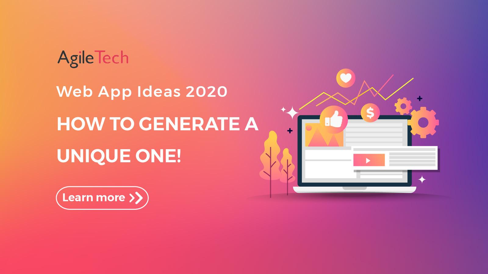 generate app ideas 2020 agiletech