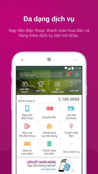 screenshot of momo app
