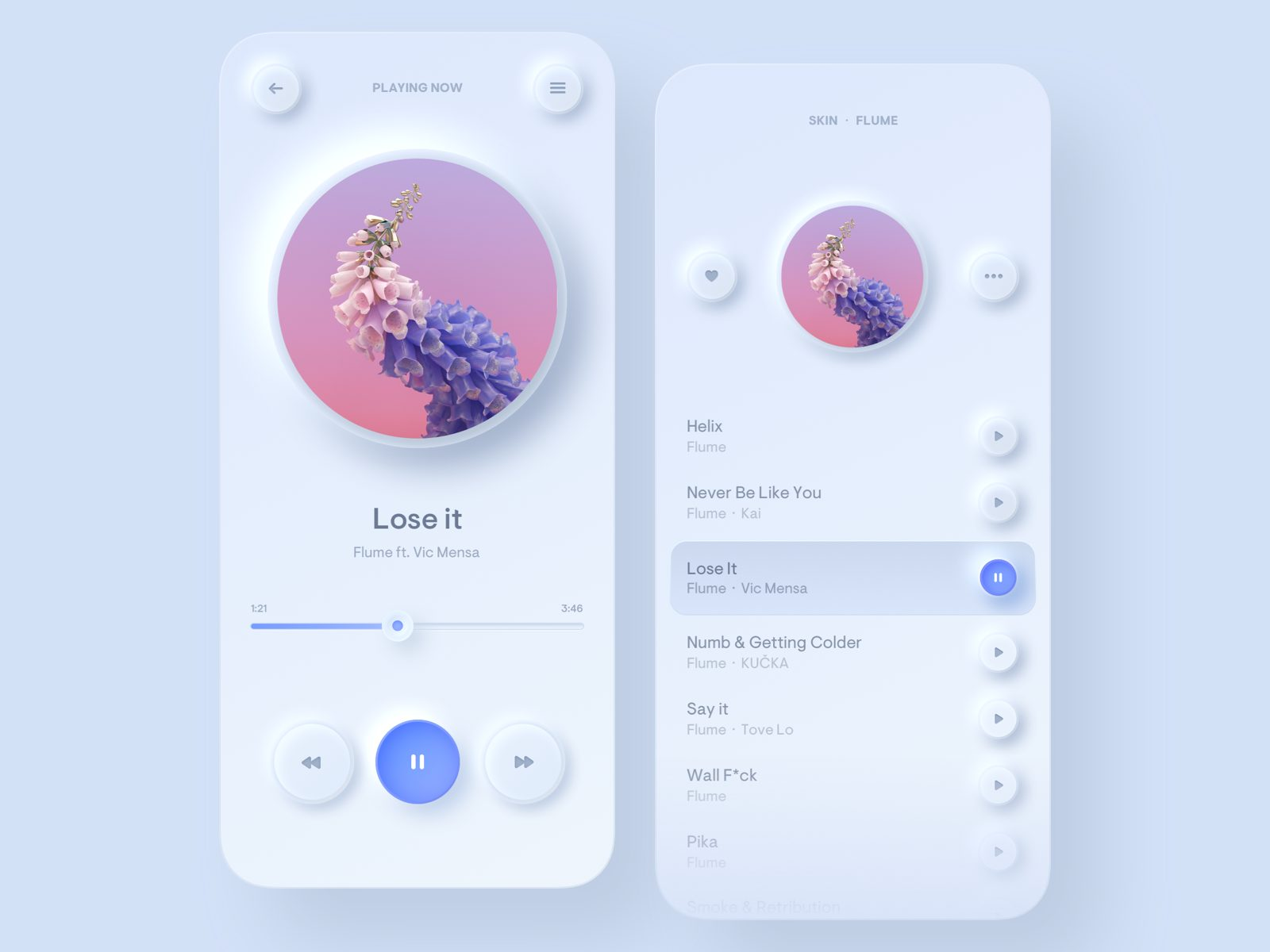 Neumorphism soft ui in user interface trends 2020