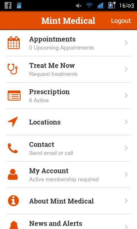 Mint Medical Healthcare App agiletech 1