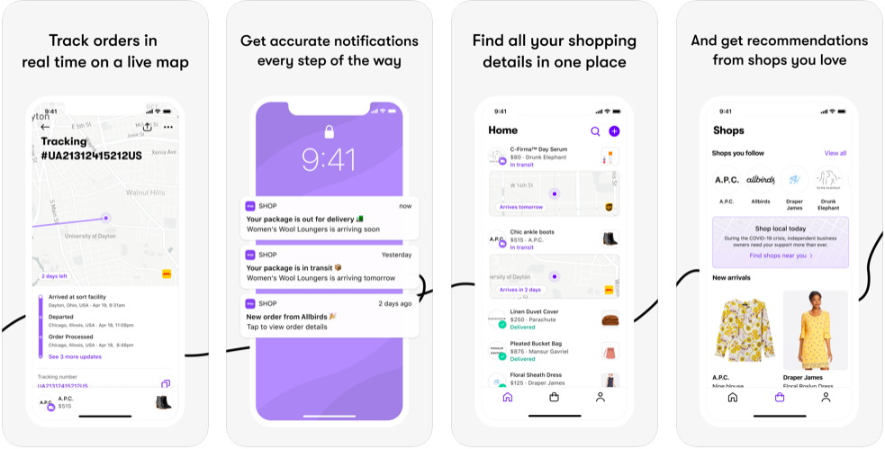 shop delivery order location tracking app
