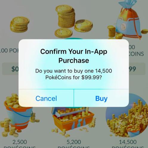 pokemon go in-app purchases