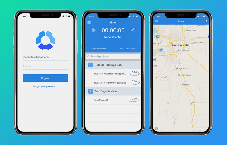 hubstaff, gps location tracking app for employees