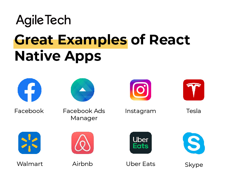 react native, examples of react native apps