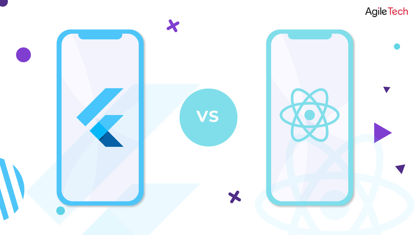 flutter, react native, flutter vs react native which one is better for your business?, agiletech
