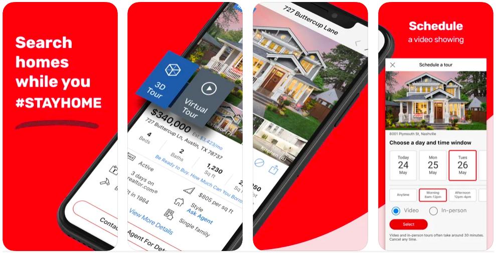 realtor.com, flutter app in real estate mobile app,