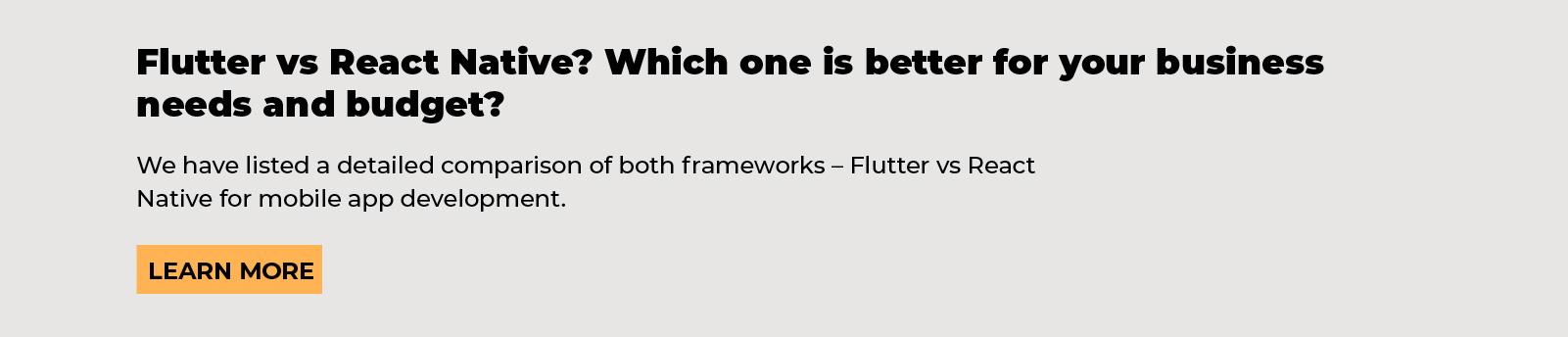flutter app development, flutter vs react native, which software development is better for cross-platform, agiletech