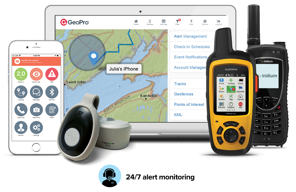 GeoPro, an employee check-in and safety alert monitoring solution, employee safety GPS tracking app