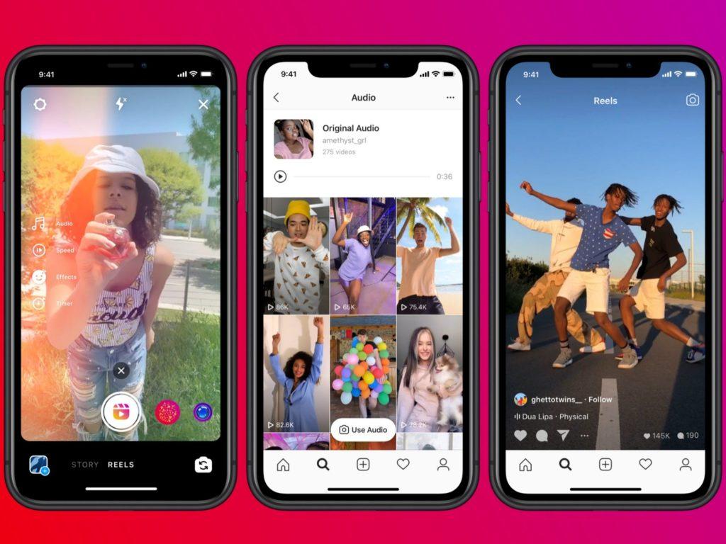 instagram reels, facebook tiktok clone, app similar tiktok