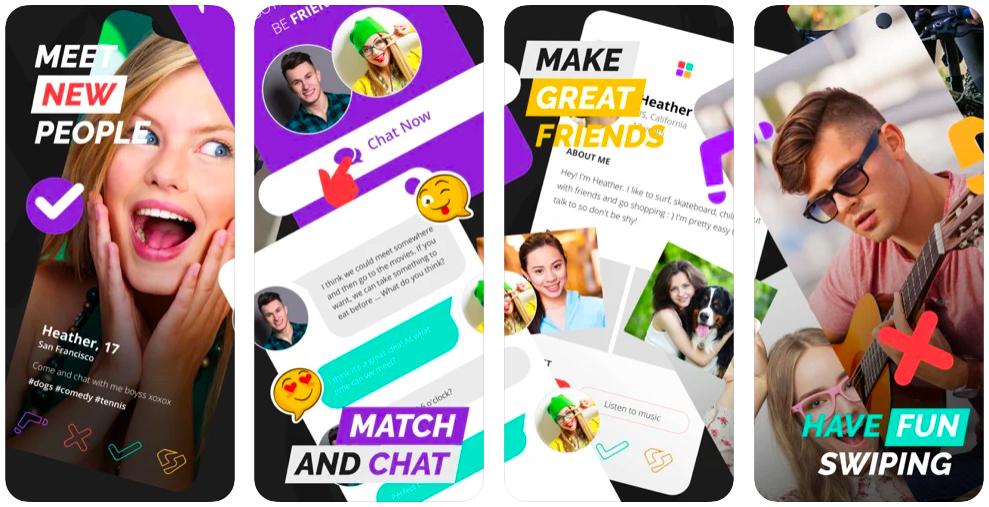 spotafriend app to make new friends online screenshot on app store