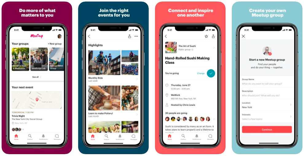 meetup local meeting and events app for making friends