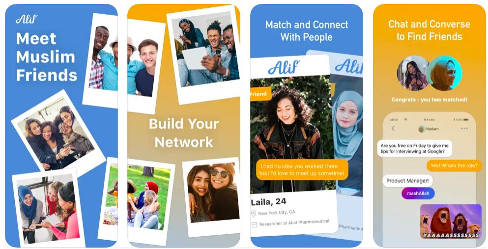 alif app, meet muslim friends,