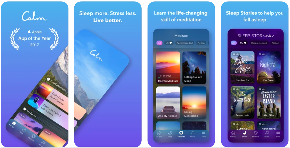 calm, apps for mental health and wellbeing