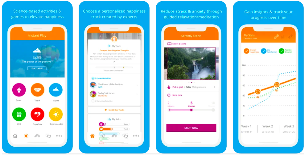 Happify for Stress & Worry, mental health app games