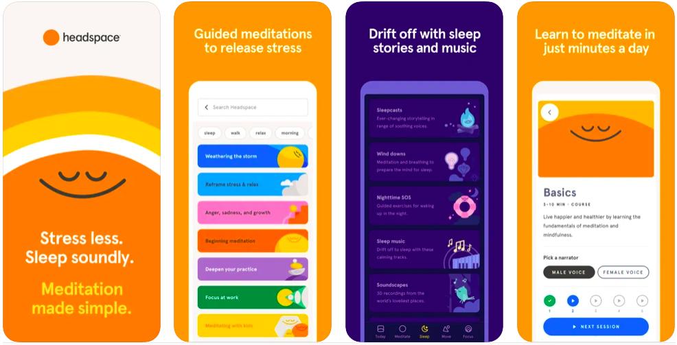 Headspace Meditation and Sleep, mental health app headspace