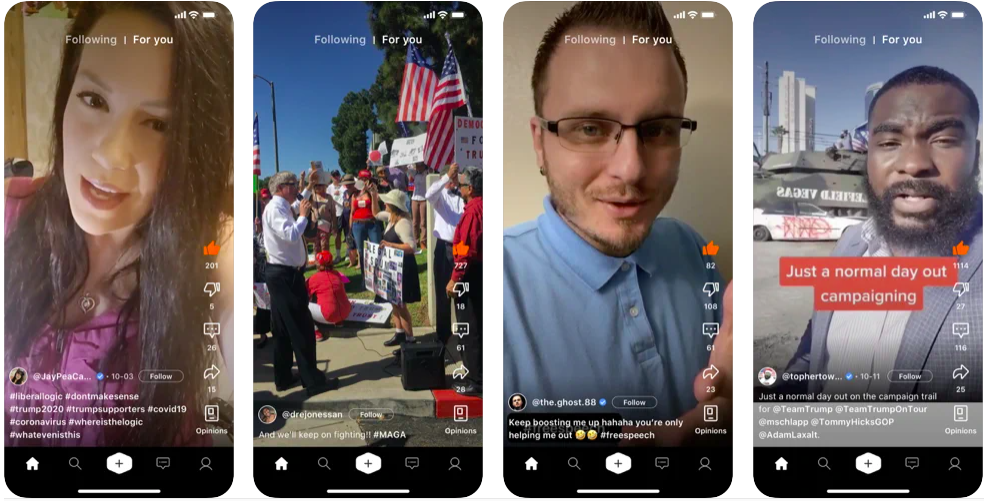 Clapper Independent Free Speech Video Platform, clapper app like tiktok, agiletech