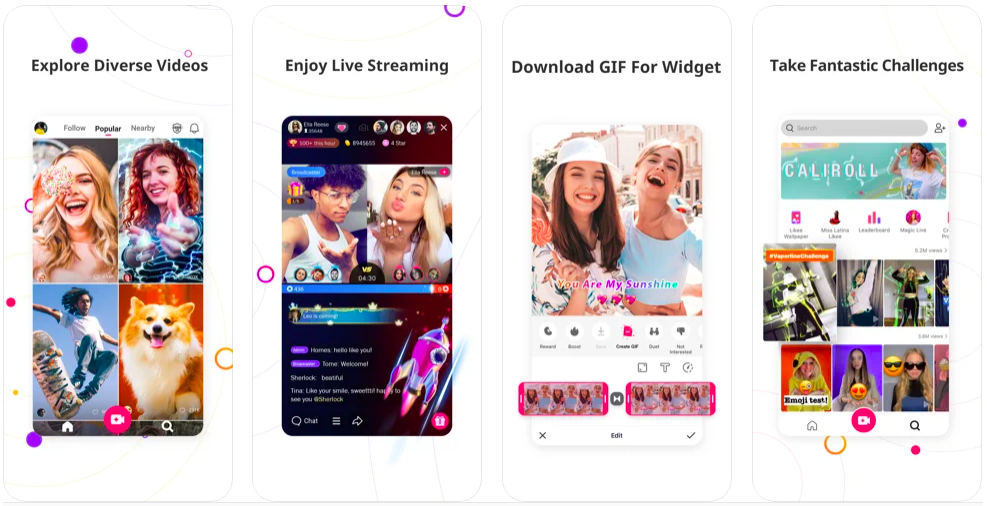 likee let you shine, likee vs tiktok, new short video app