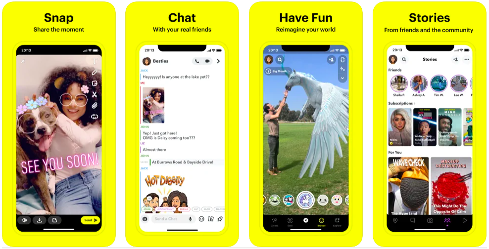 snapchat, short-form video, snapchat stories